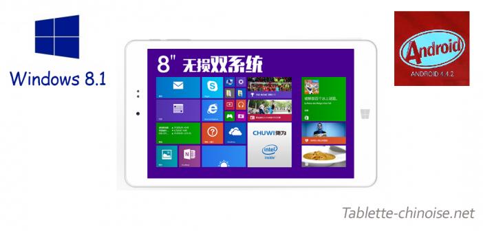 Chuwi Hi8 : Double Boot Android KitKat / Windows 8.1