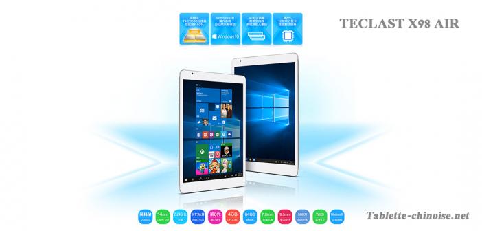 Teclast X98 Pro 4 Go de RAM Windows 10