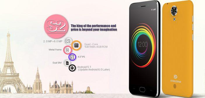 Kingzone S2, un autre smarphone 3G à moins de 50 euros