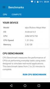Bluboo Maya Max Benchmark