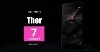Vernee propose la MAJ vers Android Nougat pour le Vernee Thor