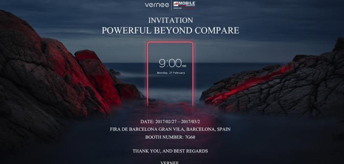 Vernee présentera plusieurs smartphones au MWC de Barcelone à la fin février
