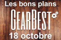 Bons plans chez Gearbest pour le 18 octobre