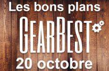 Bons plans chez Gearbest pour le 20 octobre