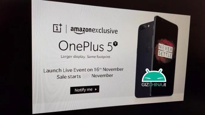 OnePlus 5T : rendez-vous le 16/11 novembre pour l'annonce officielle ?