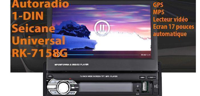 Autoradio GPS 1-DIN écran tactile 7 pouces
