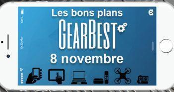 Bons plans chez Gearbest pour le 8 novembre