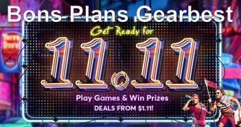 Bons plans chez Gearbest pour le 11 novembre