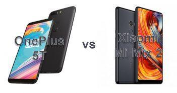OnePlus 5T vs Xiaomi Mi Mix 2