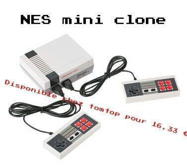 NES mini clone de la célèbre console de jeux.