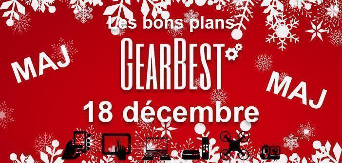 Bons plans chez Gearbest pour le 18 décembre