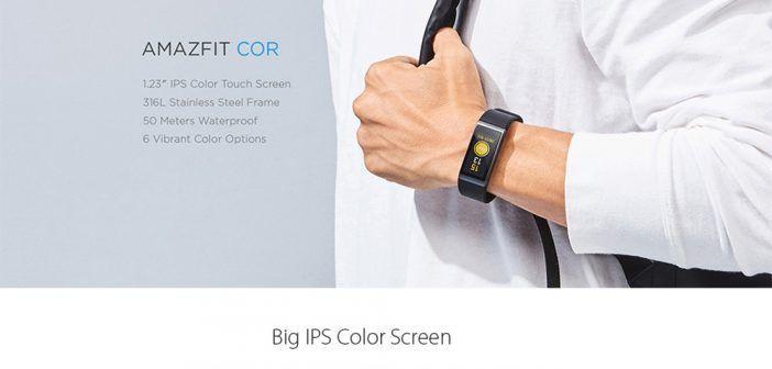 Montre intelligente Xiaomi Huami Amazfit Cor MiDong étanche / Écran tactile couleur IPS 1.23 Pouces / Boîtier en acier inoxydable / Bluetooth 4.1 – Noire