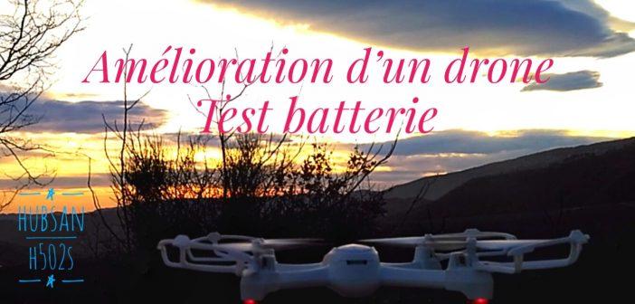 Amélioration d'un drone Hubsan x4 désire H502S