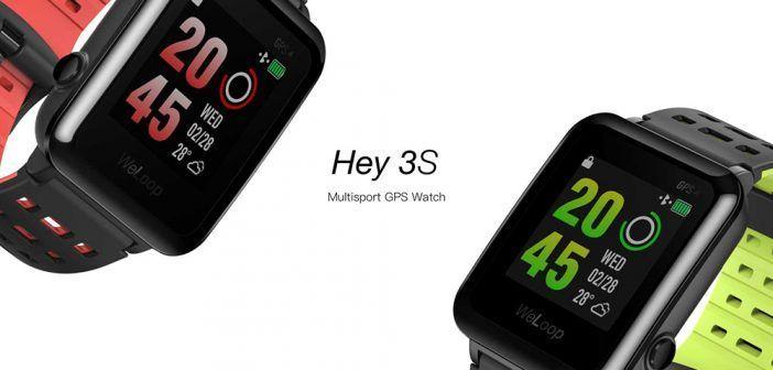 Montre de sport et loisir WeLoop Hey 3S / Ecran LCD à mémoire 1,28 pouces / Etanche jusqu'à 50 mètres / Bluetooth 4.0 – Noire