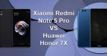Xiaomi Redmi Note 5 Pro VS Huawei Honor 7X