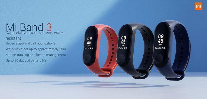 Xiaomi Mi Band 3 : toujours à petit prix