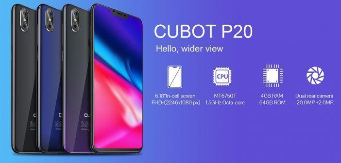Cubot P20 : écran à encoche et petit prix