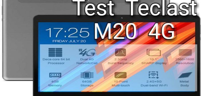 Teclast M20 4G. Test, avis review