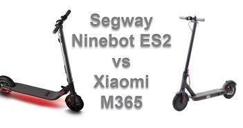 face à face Segway Ninebot ES2 et Xiaomi M365