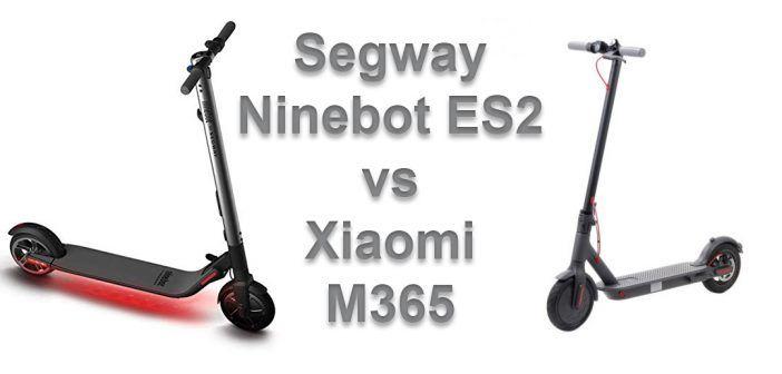 Trottinettes électriques : face à face Segway Ninebot ES2 et Xiaomi M365