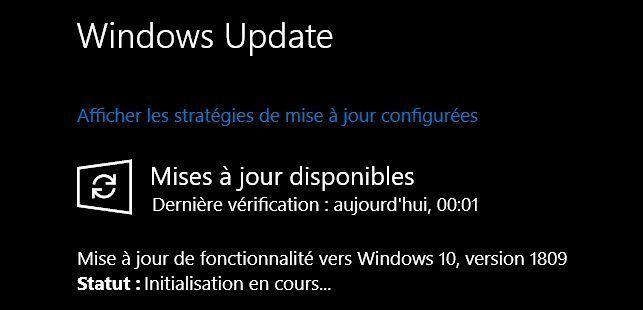 La mise à jour de Windows 10 Octobre 2018 est disponible