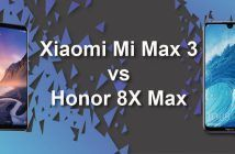Xiaomi Mi Max 3 vs Honor 8X Max