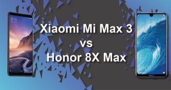 Xiaomi Mi Max 3 vs Honor 8X Max